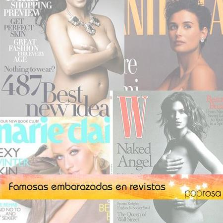 Especial famosas que han mostrado en revistas sus embarazos bien sexys
