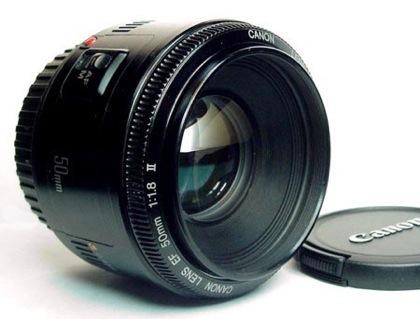 objetivo camara canon focal fijo 50mm