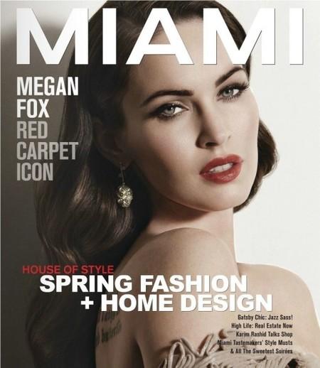 """Megan Fox fue un patito feo: queda """"clarísimo"""" en la portada de MIAMI"""