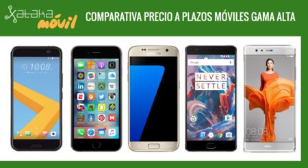 Comparativa precios Galaxy S7, iPhone 6s, Huawei P9, HTC 10, LG G5 y otros gama alta a plazos con operadores