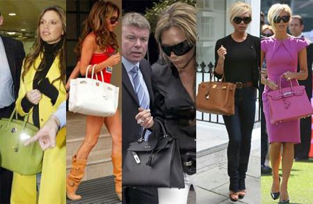 Victoria Beckham adora los bolsos de Hermès