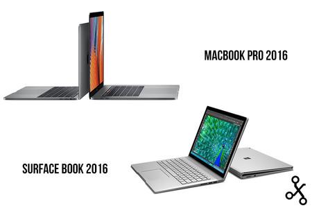 MacBook Pro 2016 vs Surface Book: comparamos sus especificaciones y características