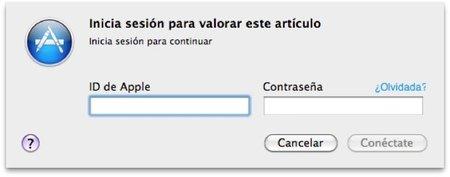 Iniciar sesión Mac App Store