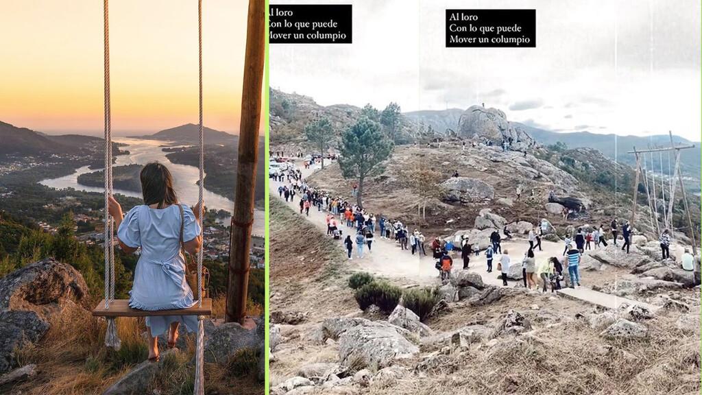 Horas de cola para una foto en Instagram: cómo un columpio ha vuelto popular este pequeño pueblo portugués