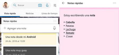 Ya puedes ver las 'Notas rápidas' de Windows en Android con Microsoft Launcher