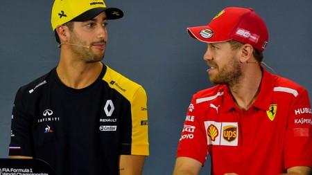 Vettel Ricciardo Ferrari F1 2020