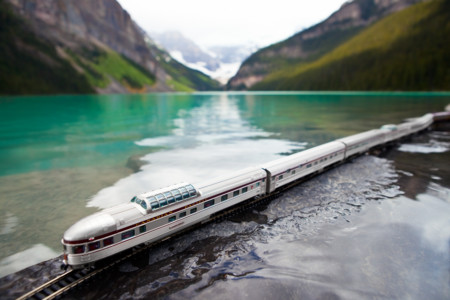 Canadian Train Lake Louise