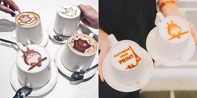 Cafe con impresión comestible