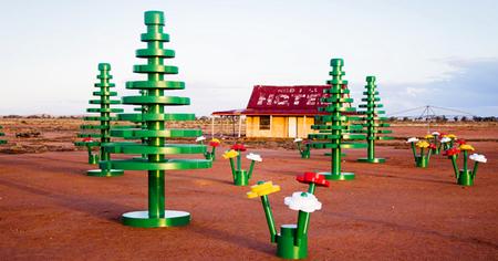 Bosques hechos con bloques de Lego en Australia