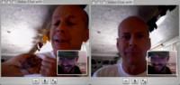 Bruce Willis utiliza iChat