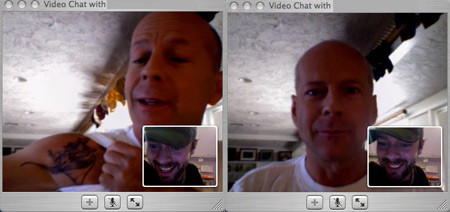 Bruce Willis utiliza iChat