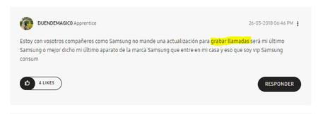 Samsung Elimina La Posibilidad De Grabar Llamadas