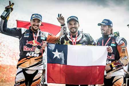 Pablo Quintanilla Sam Sunderland Toby Price 2016 Rally Cross Country