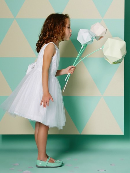 Vestido Blanco Tul Nina