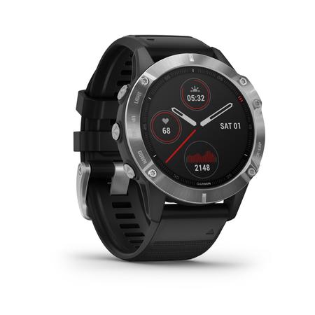 Garmin Fenix 6 Silver Reloj Gps Multideporte Correa Negra