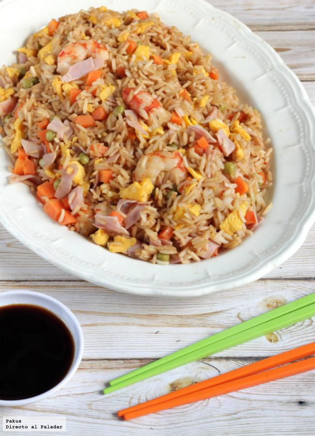 Receta de arroz tres delicias for Cocinar arroz 3 delicias