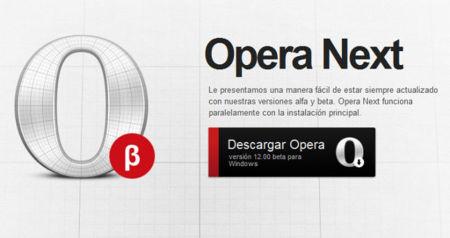 Opera 12 Wahoo Beta ya se puede probar