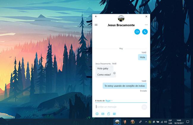 Skype En La Barra De Contactos