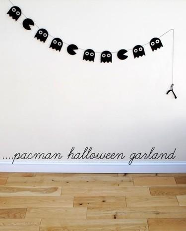 Esta guirnalda para decorar en Halloween, inspirada en el PacMan, te va a encantar