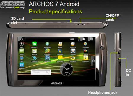 Se escapan datos del Archos 7 con Android y nos gusta