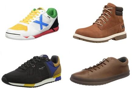 Chollos en tallas sueltas de zapatillas, botas y zapatos Helly Hansen, Pepe Jeans, Munich o Camper en el Black Friday de Amazon