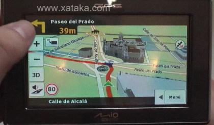 Navegador GPS Mio C620, recreaciones en 3D de edificios y accidentes geográficos
