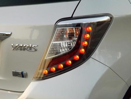 Prueba Toyota Yaris hybrid, óptica trasera