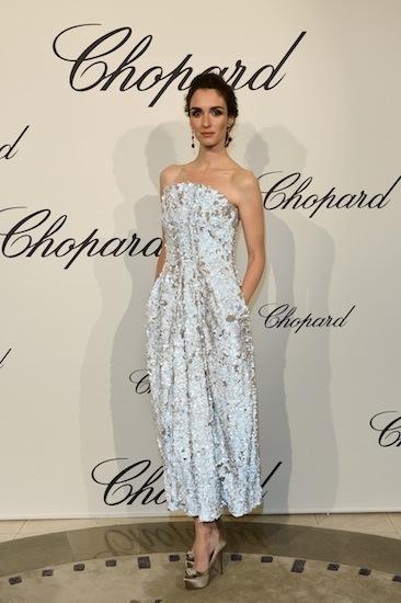 Paz Vega y Roberta Armani en la fiesta Chopard vestidas de Giorgio Armani