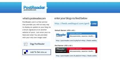 PostReader, promocionando nuestros contenidos mediante una firma en sitios web