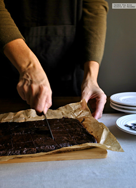 receta de brownie de aguacate