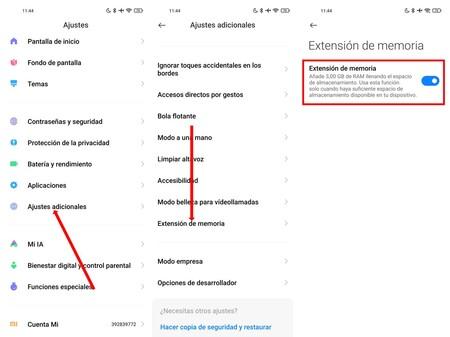 Xiaomi Memoria Ampliada