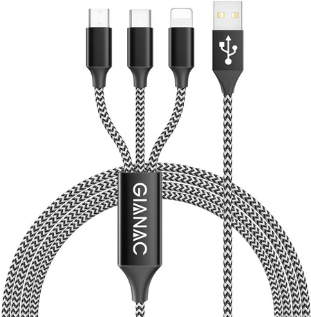 Gianac 3 En 1 Multi Cable De Carga