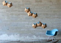 Bolsillos de cartón para organizar el almacenaje en la pared