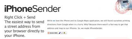 iPhonesender, manda direcciones de tu ordenador a tu iPhone o Touch