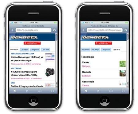 Genbeta en formato móvil