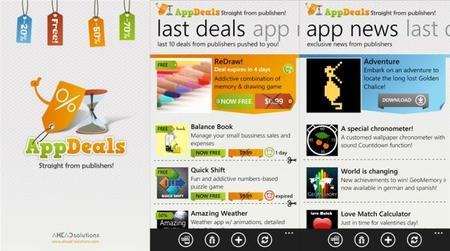 AppDeals, recibe las últimas ofertas de aplicaciones para Windows Phone
