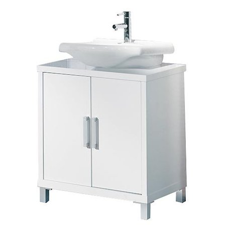 Cinco muebles y siete ideas para un lavabo con pedestal for Muebles lavamanos ikea