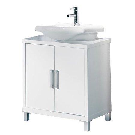 Cinco muebles y siete ideas para un lavabo con pedestal for Mueble auxiliar bano bajo lavabo