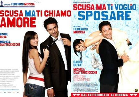 'Perdona si te llamo amor' y 'Perdona, pero quiero casarme contigo', de Federico Moccia, carteles y trailers
