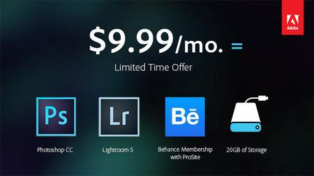 Adobe anuncia una oferta especial para Photoshop y Lightroom orientada a la comunidad fotográfica