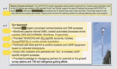 Happyfoot y la complicidad de la NGA, dos armas más de la NSA. La imagen de la semana