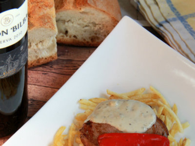 Receta de solomillo de ternera con salsa de Cabrales