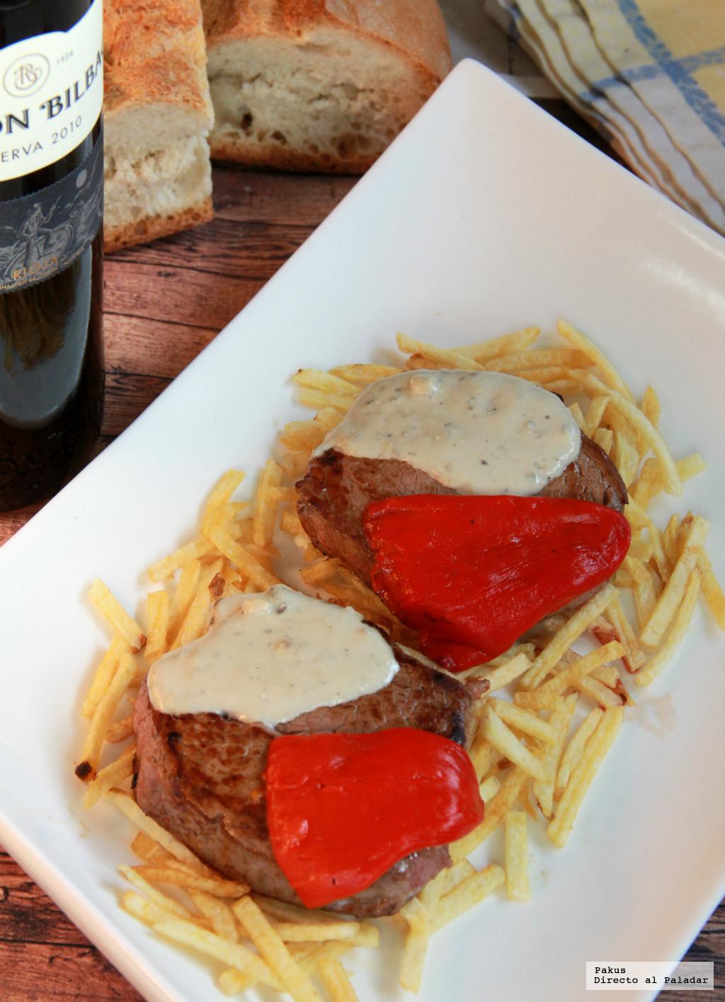 Receta de solomillo de ternera con salsa de cabrales for Solomillo de ternera