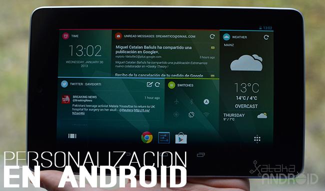 Personalización en Android