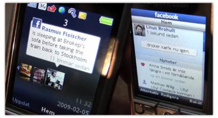 Facebook en el Sony Ericsson C510