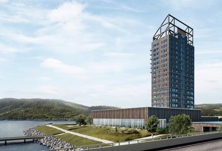 En Noruega están construyendo un rascacielos de madera, será el edificio de madera más alto del mundo