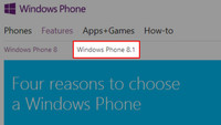 A Microsoft se le escapa una nueva referencia a Windows Phone 8.1 en su página web