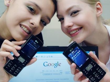 LG KS10 con aplicaciones de Google