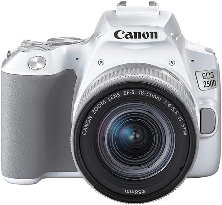Canon EOS 250D - Cámara digital (24,1 MP, 6000 x 4000 Pixeles, CMOS, 4K Ultra HD, pantalla táctil) blanco - kit con cuerpo y EF-S 18-55IS STM