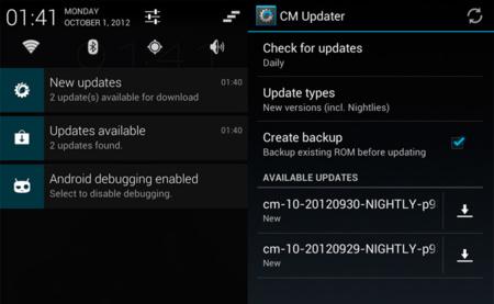 CyanogenMod introduce las actualizaciones OTA en su última ROM con CMUpdater
